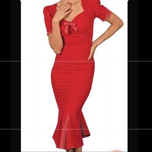 NEW Stop Staring Pinup Wiggle Mermaid Dress
